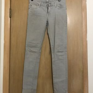 7 for All Mankind grey jeans.